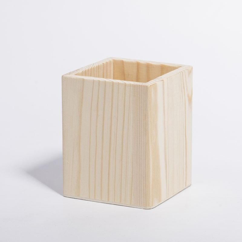 Natural Wood Desktop Pencil Pen Stand Holder Cups Office Organizer Storage Box Joy Corner