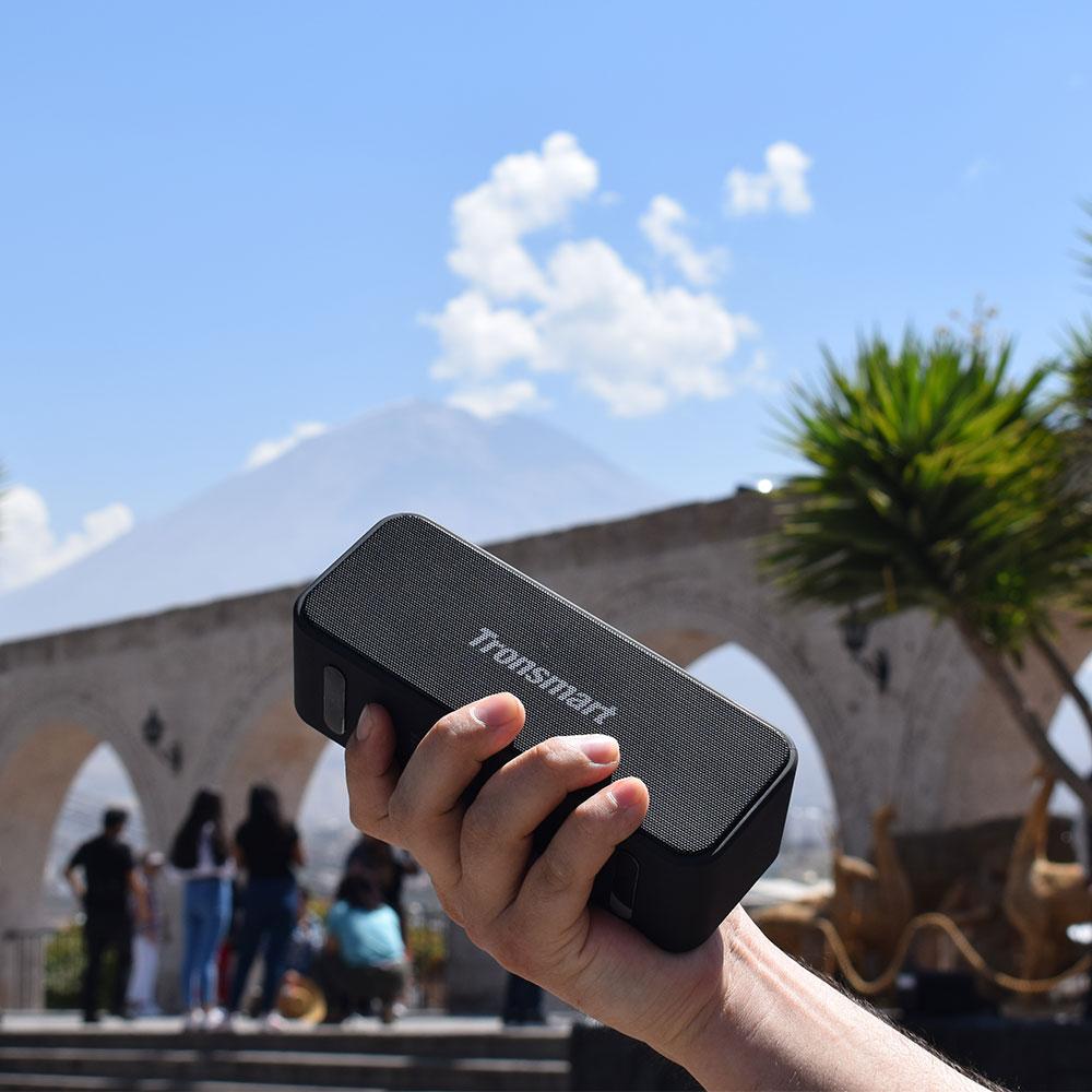Tronsmart T2 Plus Bluetooth 5.0 Speaker 20W Portable Speaker 24H Column IPX7 Soundbar with NFC, TWS,Voice Assistant,Micro SD (1)