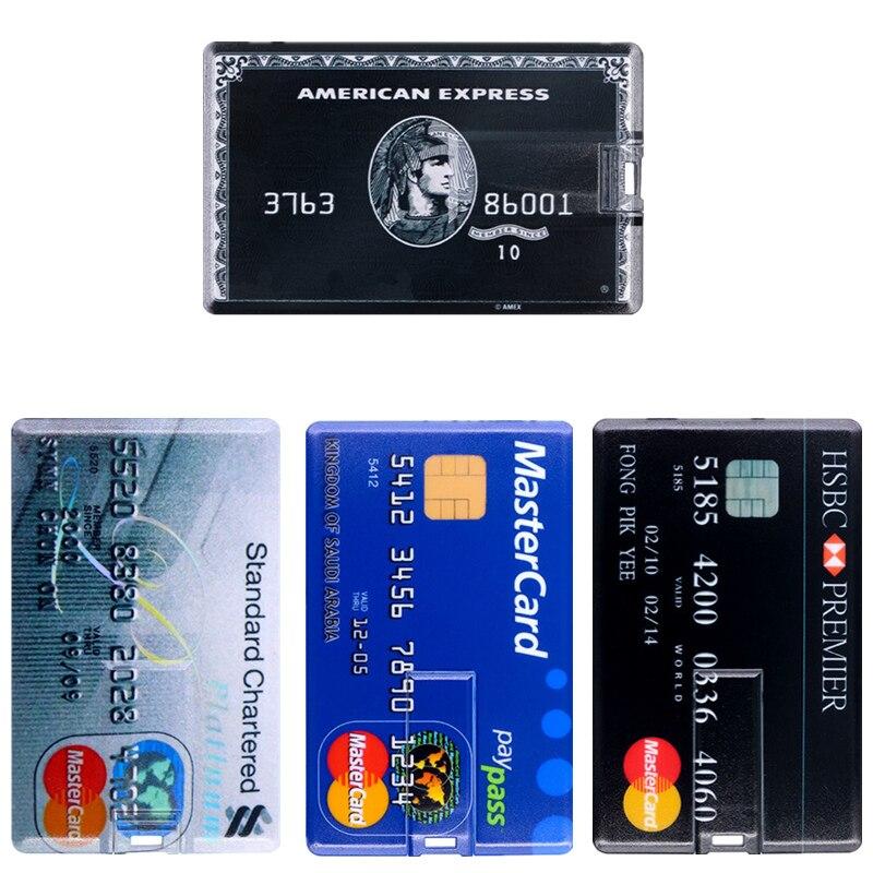 Master HSBC Credit Card Pen Drive 256GB Portable Usb Flash Stick 4G 8G 16G Usb Flash Drive 32GB 64GB 128GB Flash Memory Pendrive
