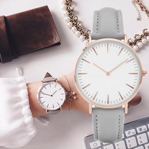 New Fashion Simple leather women watches ladies fashion casual wear Quartz Watch Woman gift clock Watch Woman Relojes Mujerwatch