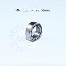 MR85ZZ bearing 5*8*2.5(mm)  ABEC-5 Metal Sealed Miniature Mini Bearing MR85 MR85ZZ chrome steel deep groove bearing цена и фото