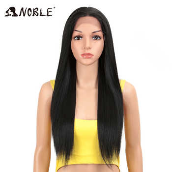 Noble Hair synthetic straight wigs 28 Inch Heat Resistant Fiber Hair Blonde Long Wigs For Women Synthetic Lace Front Wig - DISCOUNT ITEM  50% OFF All Category