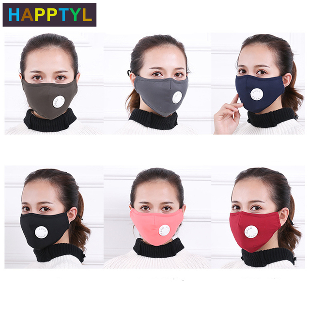 HAPPTYL Anti Pollution Mask Dust Respirator Washable Reusable Masks Cotton Unisex Mouth Muffle for Travel/ Cycling/Running 3