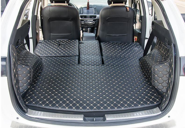 High Quality Full Rear Trunk Tray Liner Cargo Mat Floor Protector Foot Pad Mats Case For MAZDA CX-5 CX5 2015 2016 Accessories