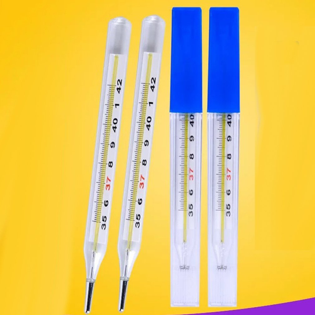 2pcs Mercury Glass Thermometer Probe Digital Thermometer Professional Health Tool Body Temperature Measurement For Baby