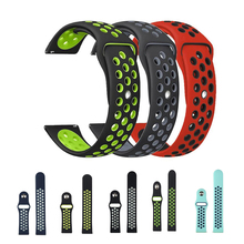 silicone strap sport band for samsung gear s3 s2 classic huawei watch 2 xiaomi huami amazfit pace lite pebble time steel 20 22mm pebble time band for samsung galaxy watch active gear s2 s3 amazfit 2s 1 pace bip huawei watch 2 pro GT silicone strap 22 20 18