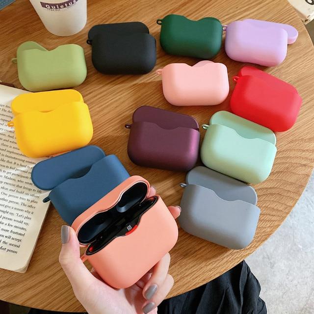 אוזניות מקרה עבור Sony WF 1000XM3 פשוט מוצק צבע אלחוטי Bluetooth אוזניות מגן כיסוי מחשב קשה פגז טעינת תיבה