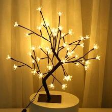 48 led usb Вишневый цветок сливы Дерево светильник настольные