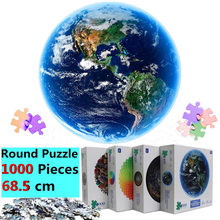 New Jigsaw Puzzle 1000 pieces Rainbow Round Puzzles For Adults Large Moon Reduce Stress Earth Puzzle Dropshippin Gift