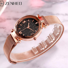 Women watch Simple Delicate and compact milan magnet buckle luxury fashion ladies geometric roman numeral quartz wristwatches