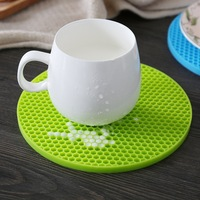 14cm Hot Sell New Practical Silicone Holder Mat Kitchen Heat Non-slip Resistant Trivet Pot Tray Straightener Kitchen Tools