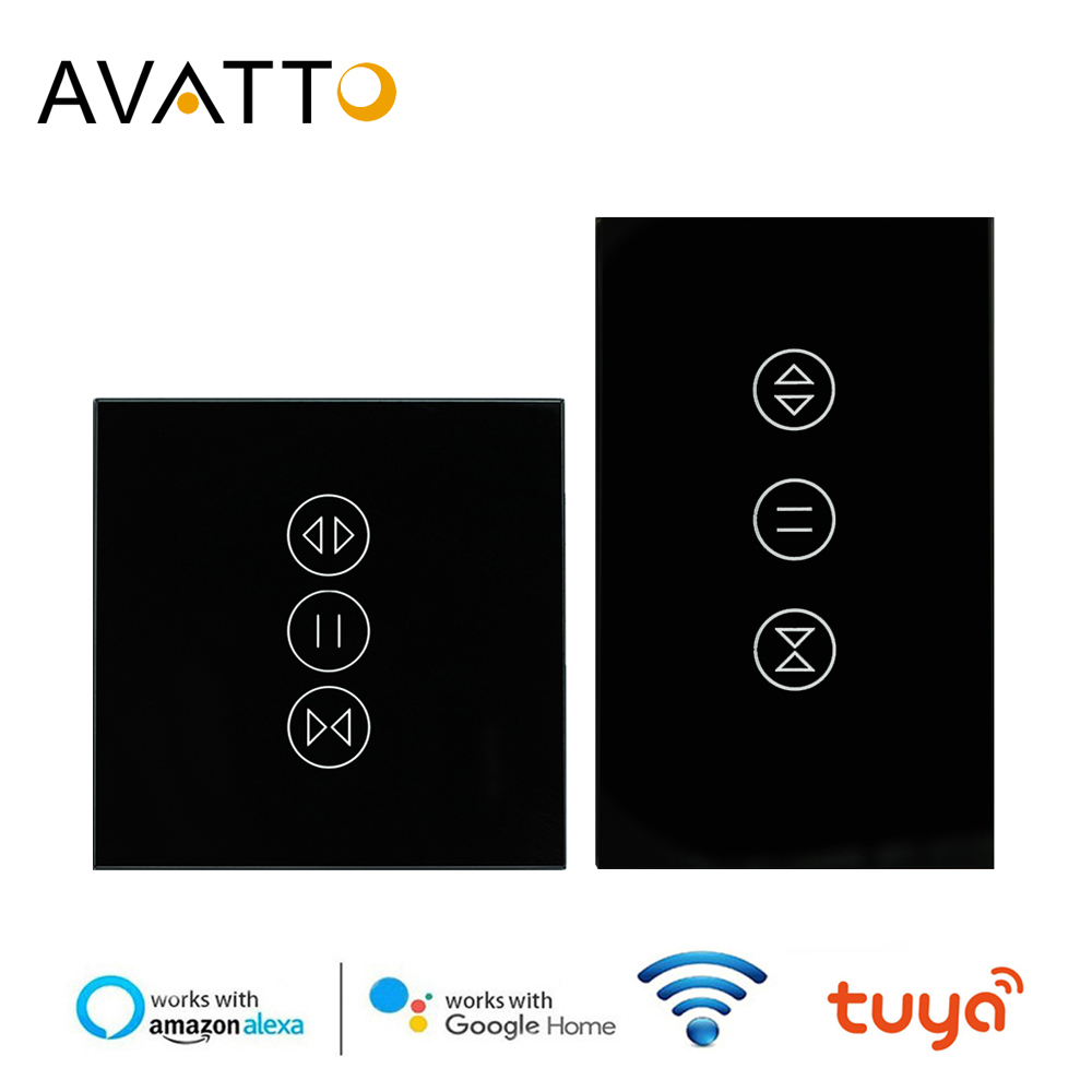 AVATTO Tuya WiFi Curtain Switch For Electric Motorized Roller Shutter, Blinds EU/US Switch, Smart Home For Google Home, Alexa