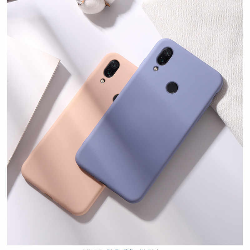 Vloeibare Siliconen Case Voor Xiao mi rode Mi note 8 7 6 pro 7A 6A K20 SLIM SOFT Cover Case voor mi 8 lite mi 9t se 6X NOTE 5A Case COVER