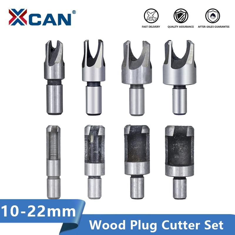XCAN Plug Cutter Set 8pcs Carbon Steel Woodworking Drill Bit Hole Cutter Core Drill