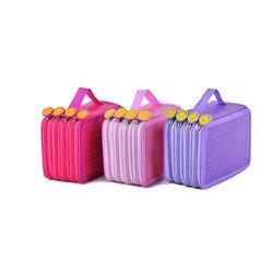 Kawaii karny dla szkoły piórnik duże 4 warstwy 72 otwory piórnik dla dziewcząt chłopców pudełko na długopis śliczne kasety torba zestaw piśmienne