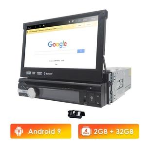 Image 1 - 유니버설 1 din 안드로이드 10 쿼드 코어 자동차 DVD 플레이어 GPS 와이파이 BT 라디오 BT 2GB RAM 32GB rom 16GB 4G SIM 네트워크 스티어링 휠 RDS