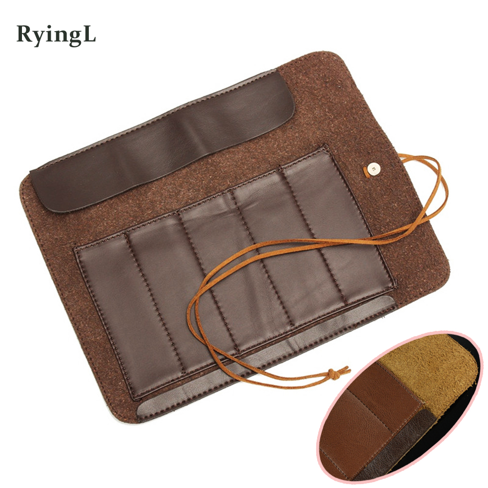 Lowest Price Stone Carving Tool Knife Bag Scabbard Artificial Leather Can Roll Up Bags For DIY Handmade Leathercraft Accessories