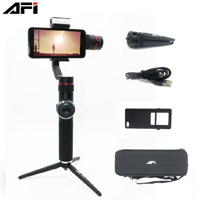 AFI V5 3-Axis Stabilizer Handheld Smartphone Phone Gimbal for iPhone 11 11Plus XR X 8P 8 7P 6S Samsung & Gopro Action Camera image