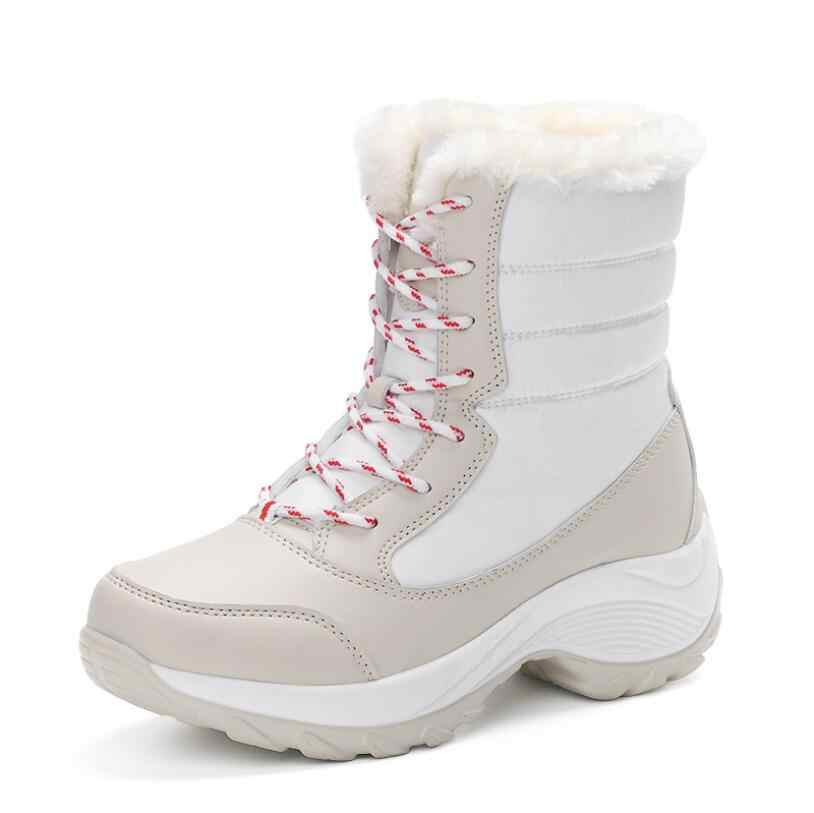 CS698 2019 kadın ayakkabı kış çizmeler kadın sıcak kar botları kış kadın tutmak sıcak ayakkabı kadın orta buzağı Platform çizmeler