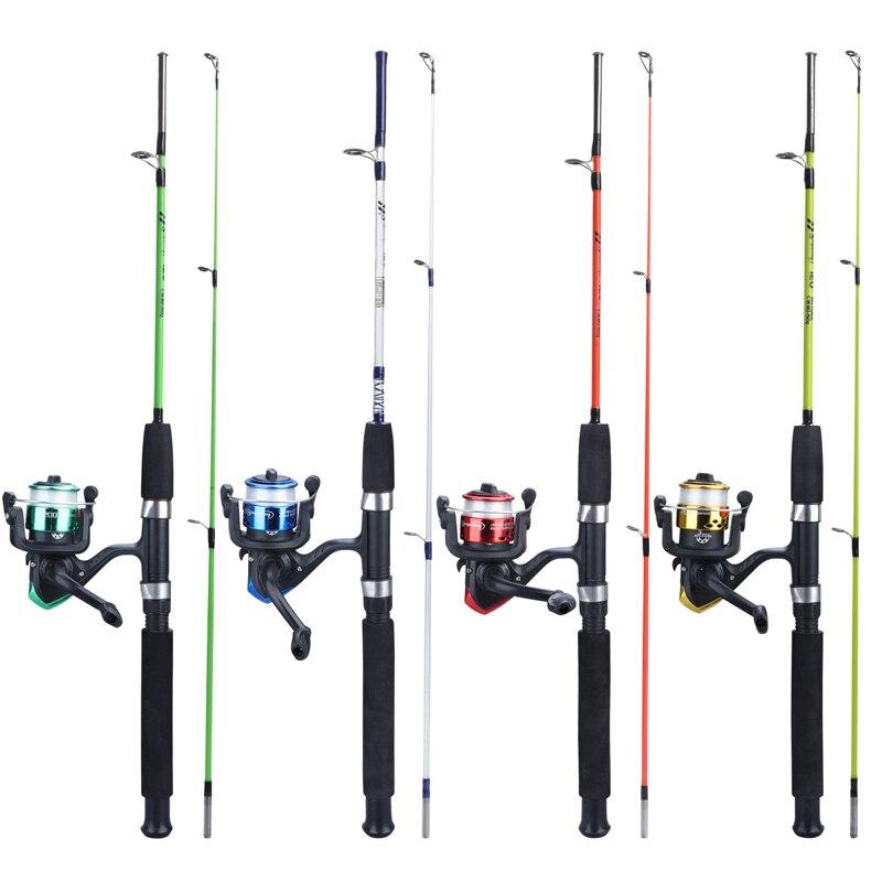 Sougayilang 4 Color  Spining Fishing Combo 2 Section EVA Handle Ultralight 120cm Resin Body Rod And 3BB Fishing Reel Fishing Set