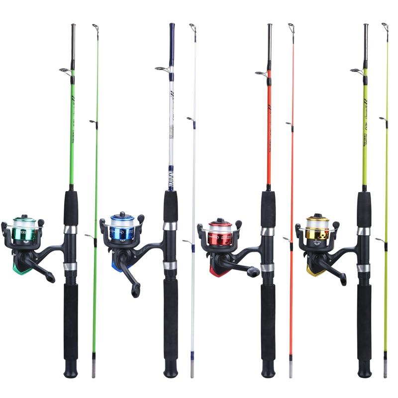 Spor ve Eğlence'ten Balıkçılık Çubuğu'de Sougayilang 4 renk iplik balıkçılık Combo 2 bölüm EVA kolu Ultralight 120cm reçine vücut çubuk ve 3BB balıkçılık Reel balıkçılık seti title=