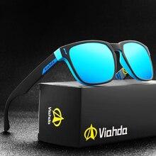 Viahda 2020 novos óculos de sol polarizados legal masculino esporte quadrado óculos de sol para mulher viagem gafas de sol