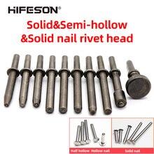 HIFESON Pneumatic Rivet Head Semi-hollow Solid Rivet Head Pneumatic Hammer Traffic Advertising Sign Rivet Head