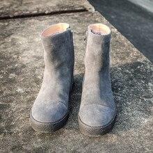 Snow Boots Men Brand Casual Plush Thick Warm Zipper Boots Winter Black High-
