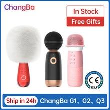 Novo g2 g1 q3 grande ovo microfone sem fio changba microfone profissional bluetooth karaoke micro-telefone cantar para vivo