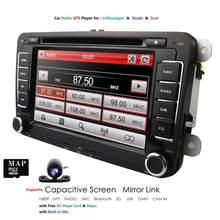 Ossuret Автомобильный DVD стерео 7 дюймов GPS Navi ForVW Passat CC Golf 5 6 Кабриолет Tiguan JettaPolo седан Бора Sharan Wince RDS BT Камера