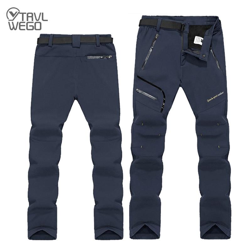 TRVLWEGO охотничьи брюки для альпинизма, кемпинга, треккинга, брюки, мягкая оболочка, Зимний Лыжный водонепроницаемый, тепло, радиационная защи...