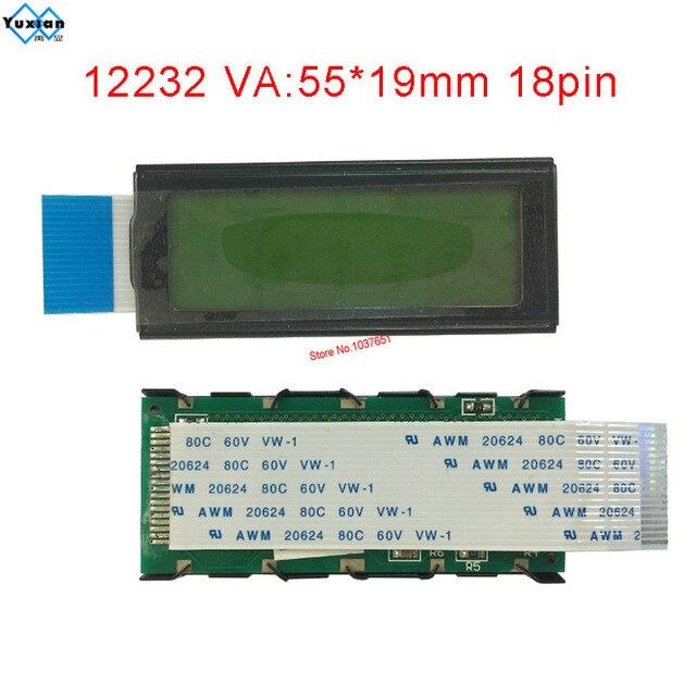 12232 122*32  lcd module small mini size display panel 18pin FFC 12232 9