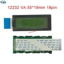 12232 122*32 módulo lcd pequeño tamaño mini panel de visualización 18pin FFC 12232 9