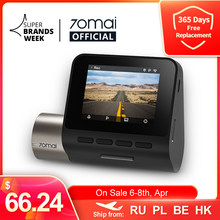 Upgrade Version 70mai Dash Cam Pro Plus+ 70mai Plus Car DVR Built-in GPS 1944P Speed Coordinates ADAS 24Hours Parking A500S