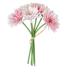 6pcs/lot Sunflower Gerbera bouquet Artificial flower home wall decoration wedding holding road cited fake flowers