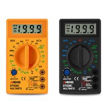 LCD Digital Multimeter AC DC Voltage Current Resistance Diode Temperature Meter with Test Leads Probe