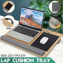 Portable Laptop Desk Tray Laptop Table with Mouse Pad Wrist Support Cushion Portable Lightweight Lapdesks Tablet Phone Holder