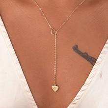 Naszyjnik z wisiorkiem w kształcie serca dla kobiet i dziewczyn łańcuszek miedziany z serduszkiem nowa modna damska biżuteria doskonały prezent dla pań tanie tanio SUMENG Miedziane Kobiety Naszyjniki łańcuszkowe CN (pochodzenie) TRENDY Łańcuszek o splocie żmijka Metal Serce Zgodna ze wszystkimi