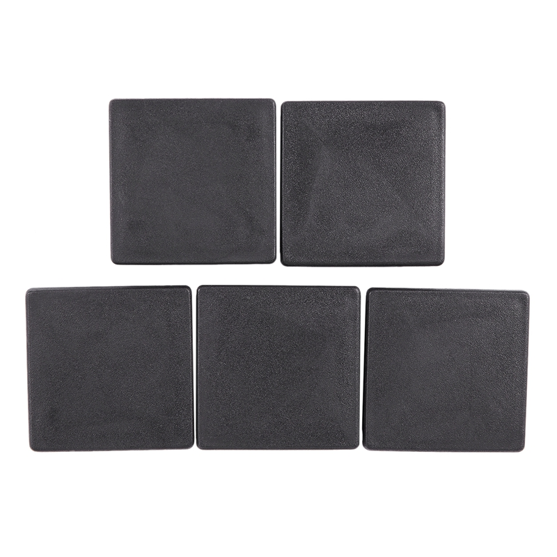ELEG-Square Plastic Plug Cover Protective Caps For Cables 60 Mm X 60 Mm 5 Pieces