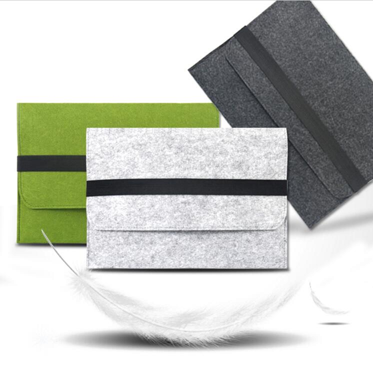 Wool Felt Envelope Laptop Sleeve Case Cover Messenger Bag For MacBook Air Go Pro 11