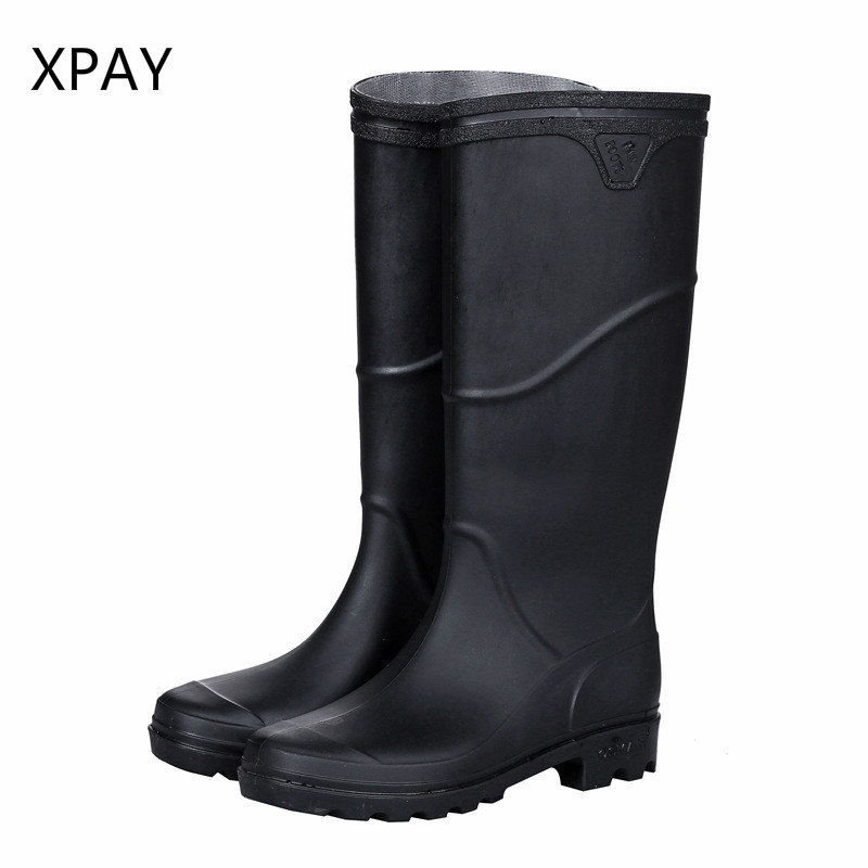 New Rubber Rain Boots Men Gumboots Non-slip Fishing Boots  Galoshes Water Shoes