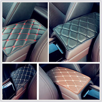 Car Armrest Mat Auto Storage Box Arm rest Pad Cushion Pad for Toyota Yaris Tundra Tacoma RAV4 Corolla Aygo Avalon Auris image