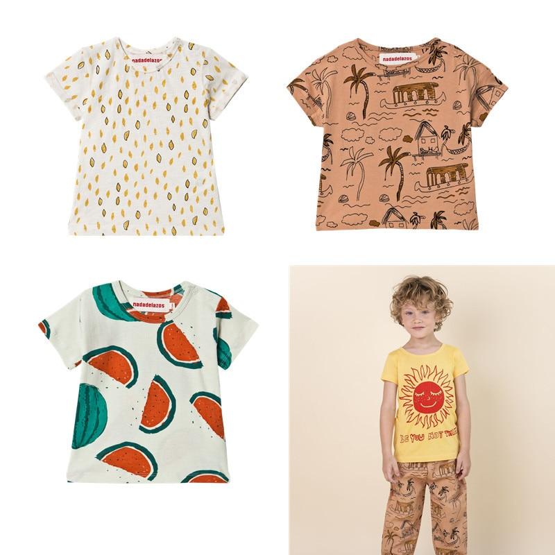 Nadade**zos Kids Summer Fashion T Shirt High Quality Toddler Boys Girl Casual T-shirts Watermelon Pattern Hawaii Kid Unisex Tops