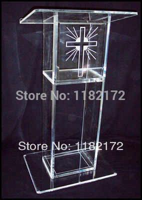 Transparent acryl rednerpult podium/acryl podium rednerpult kanzel