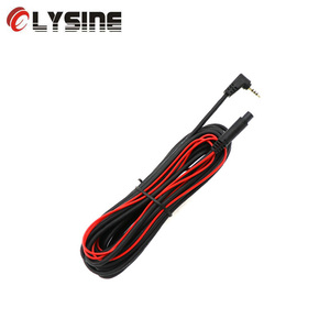 Olysine Extend Power Cable for Car DVR Rear View Camera 4 Pin 6 10 15 Meters with 2.5mm AV in Interface