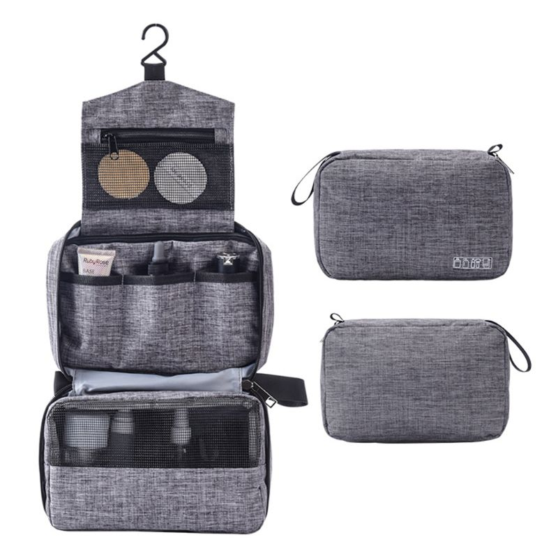 Travel Toiletry Bag Lightweight Hanging Cosmetics Organizer With Hook Makeup Pouch Shower For Women And Men 517D