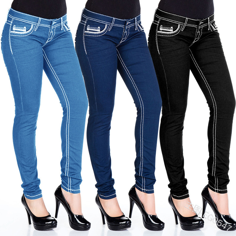 COLDKER Women Jeans Casual Wear Denim Trousers Female Pants  Ladies High Waist Vaqueros De Mujer Jeans