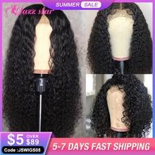 Perruque Lace Closure Wig frisée brésilienne non-remy, cheveux naturels, 4x4, Jazz Star, perruque Lace Closure Wig, pour femmes
