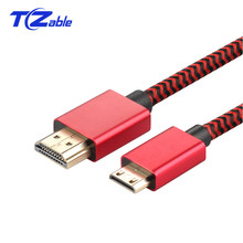 HDMI TO MINI HDMI Cable 2.0 v 4K 60HZ High Speed Gold Plated Plug HDMI Line For Camera Monitor Projector Notebook