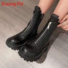 Krazing pot/теплые зимние ботинки «Челси» из натуральной кожи